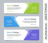 vector abstract banner modern...   Shutterstock .eps vector #1803729034