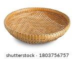 Bamboo Basket Isolated On White ...