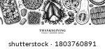 thanksgiving food banner design....   Shutterstock .eps vector #1803760891