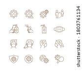 he sample set of vector icon... | Shutterstock .eps vector #1803761134