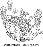 vector illustration of a whale ...   Shutterstock .eps vector #1803765391