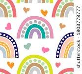 boho rainbow with heart...   Shutterstock .eps vector #1803778777