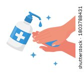 antibacterial gel for hand... | Shutterstock .eps vector #1803788431