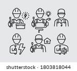 electrician technician engineer ...   Shutterstock .eps vector #1803818044
