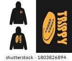 typography street wear hoodie... | Shutterstock .eps vector #1803826894