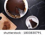 Dark Chocolate Cake In White...