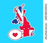 cute happy funny united kingdom ... | Shutterstock .eps vector #1803833041