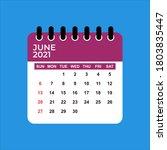 June 2021 Calendar. June 2021...