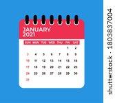 january 2021 calendar. january... | Shutterstock .eps vector #1803837004