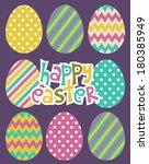 happy easter | Shutterstock .eps vector #180385949