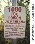 A 1080 Poison Sign Warning Tha...