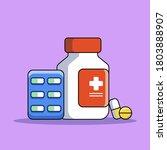 pills bottle.medical capsules... | Shutterstock .eps vector #1803888907