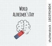 world alzheimer day. brain... | Shutterstock .eps vector #1803904804