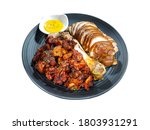 Small photo of Pig's trotters isolated on white background with clipping path