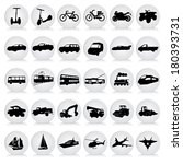 transport black icons | Shutterstock .eps vector #180393731