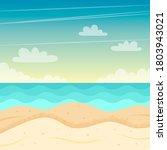 beach landscape. colorful... | Shutterstock . vector #1803943021