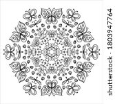 Mandala For Coloring. With The...