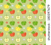 seamless green pattern with... | Shutterstock .eps vector #180397679