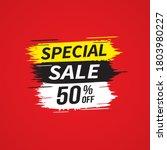 sale banner template design ...   Shutterstock .eps vector #1803980227