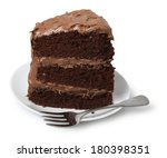 Piece Of Cake On Small Dessert...