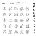 tourism pixel perfect linear... | Shutterstock .eps vector #1803992704