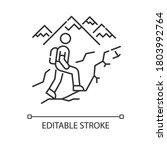 trekking pixel perfect linear... | Shutterstock .eps vector #1803992764