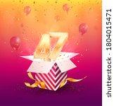 47th years anniversary vector... | Shutterstock .eps vector #1804015471