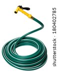 Garden Hose Coiled With Yellow...