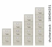 file cabinets of increasing... | Shutterstock . vector #180404351