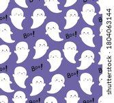 halloween seamless pattern with ... | Shutterstock .eps vector #1804063144