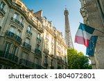Building In Paris Near Eiffel...