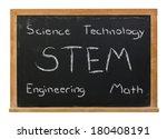 stem science technology... | Shutterstock . vector #180408191
