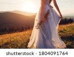 Bride Wearing Blue Wedding...