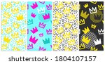 Set Of Seamless Patterns With...