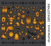 set of christmas hand drawn... | Shutterstock . vector #1804107484