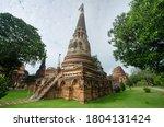 Ancient Stupa  Chedi  At Wat...