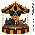 Halloween Carousel With Black...