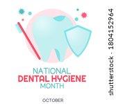 national dental hygiene month...   Shutterstock .eps vector #1804152964