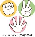rock paper scissors icon set  ... | Shutterstock .eps vector #1804156864