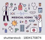 male and female doctor... | Shutterstock .eps vector #1804170874