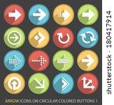 arrow icons on circular colored ...