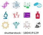set of twelve colorful... | Shutterstock .eps vector #180419129