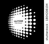white halftone circle... | Shutterstock .eps vector #1804208104