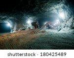 mine work underground | Shutterstock . vector #180425489