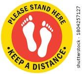social distancing concept for...   Shutterstock .eps vector #1804257127