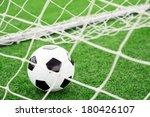 soccer ball in goal | Shutterstock . vector #180426107