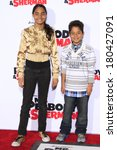 Small photo of LOS ANGELES - MAR 5: Shar Jackson's children Kaleb and Kori with Kevin Federline at the premiere of 'Mr. Peabody & Sherman' at Regency Village Theater on March 5, 2014 in Los Angeles, California