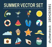 Summer Vector Set With Diving...