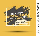 sale banner on yellow and... | Shutterstock .eps vector #1804284334