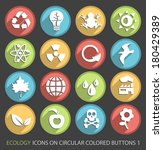 set of ecology icons on... | Shutterstock .eps vector #180429389